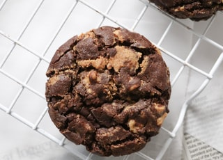 chocolate chip cookies on white paper