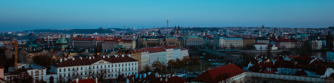Prague Castle: City Views from St. Wenceslas Vineyards.