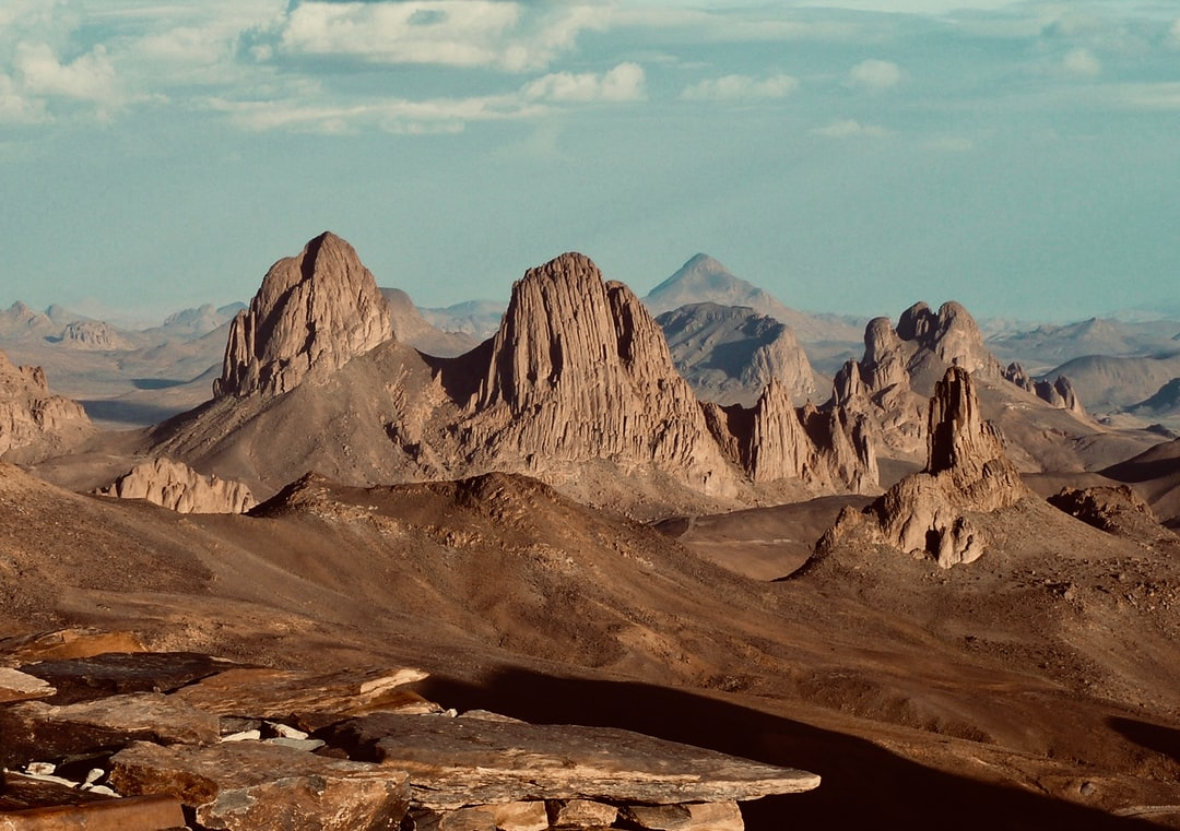 View from Assekrem (2750m), Sahara Ahaggar National Park - Algeria  made by rouichi / switzerland
