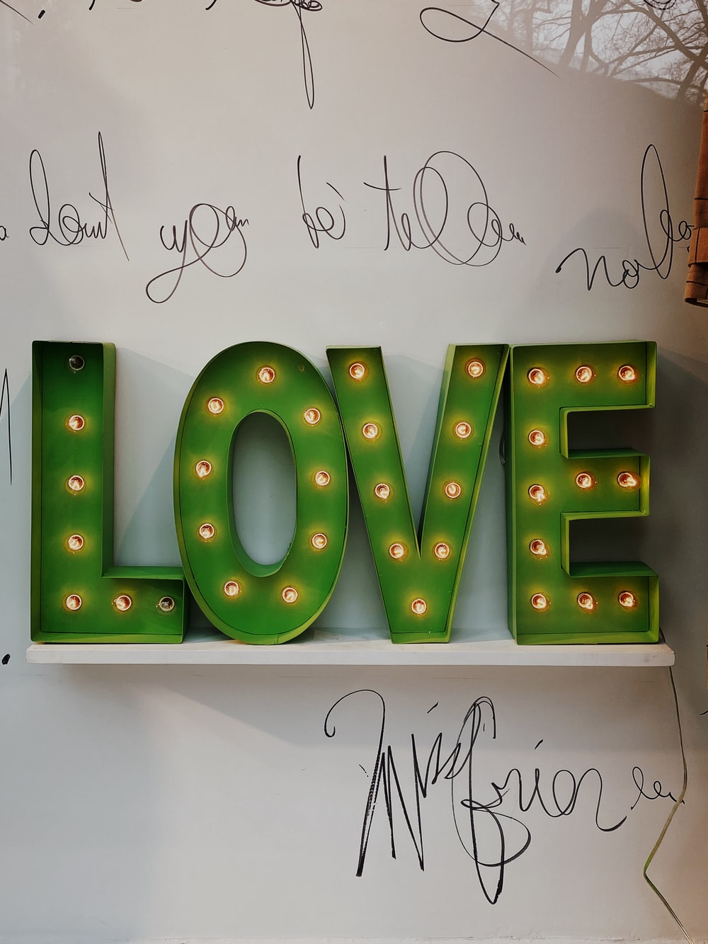 Green And Yellow Letter B Wall Decor