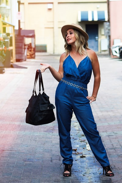 Model Posing with handbag
