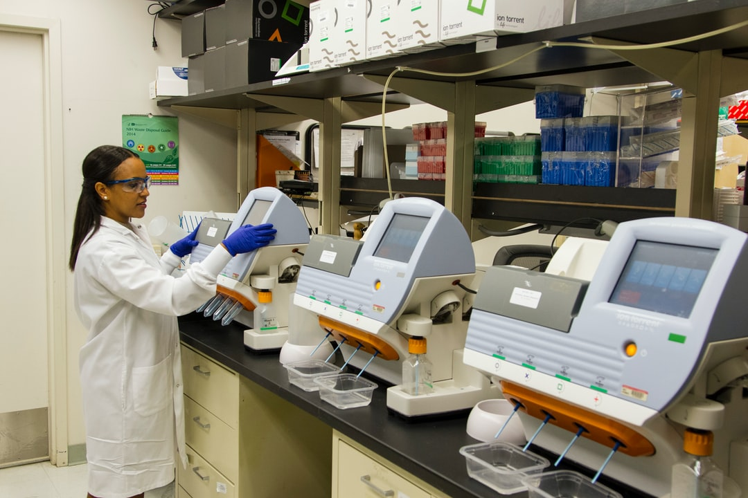 DNA Genotyping and Sequencing. A technician validates genetic variants identified through whole-exome sequencing at the Cancer Genomics Research Laboratory, part of the National Cancer Institute's Division of Cancer Epidemiology and Genetics (DCEG).