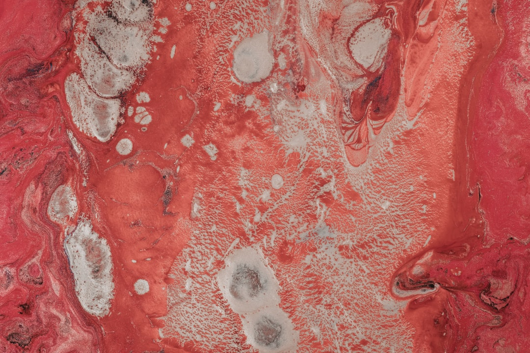 Red and White Abstract Painting - unsplash