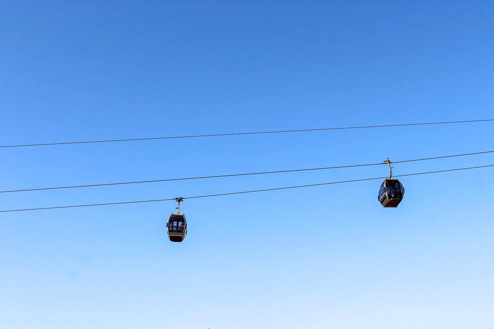 black and yellow cable car under blue sky during daytime