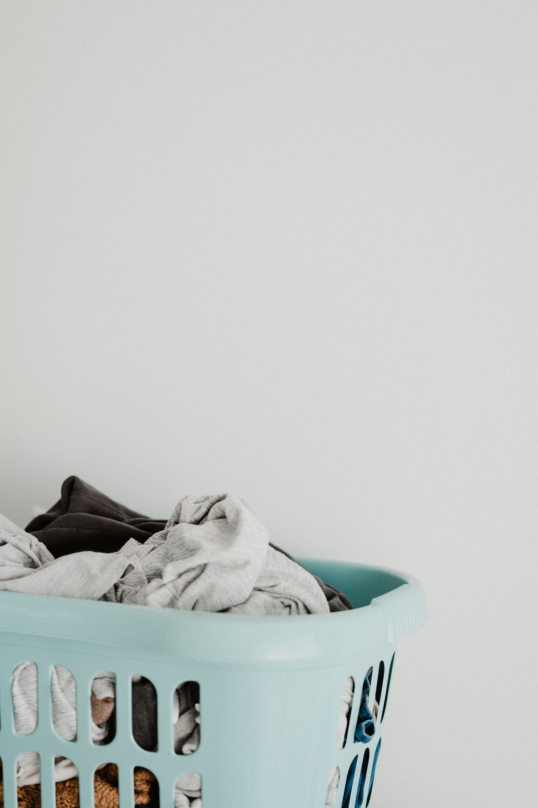 Routine - laundry basket full of clean clothes