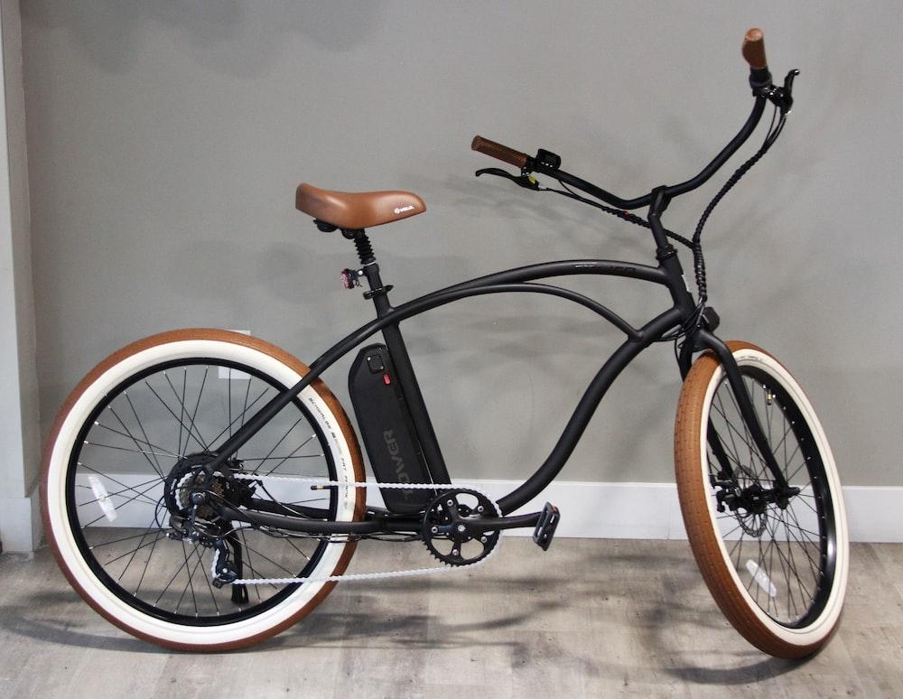 black and brown city bike