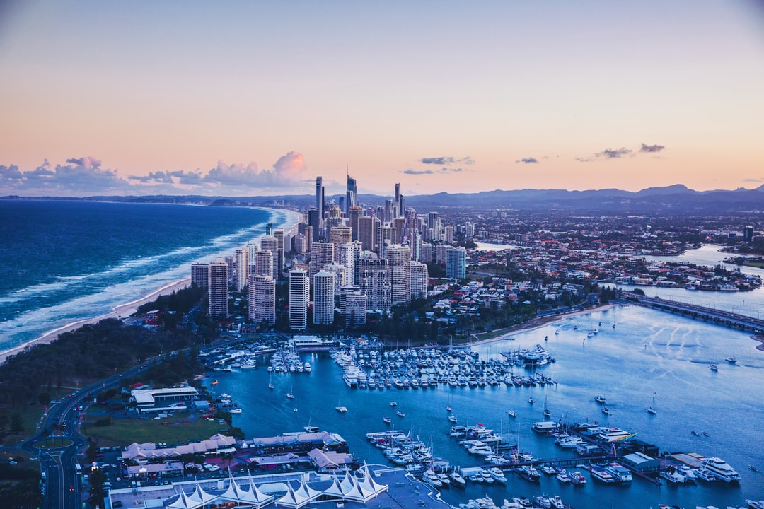 Aerial of Surfers Paradise, Looking South At Dusk. - unsplash