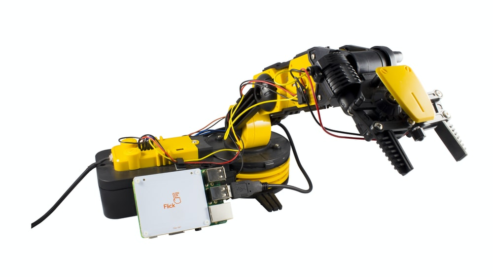 black and yellow corded power tool