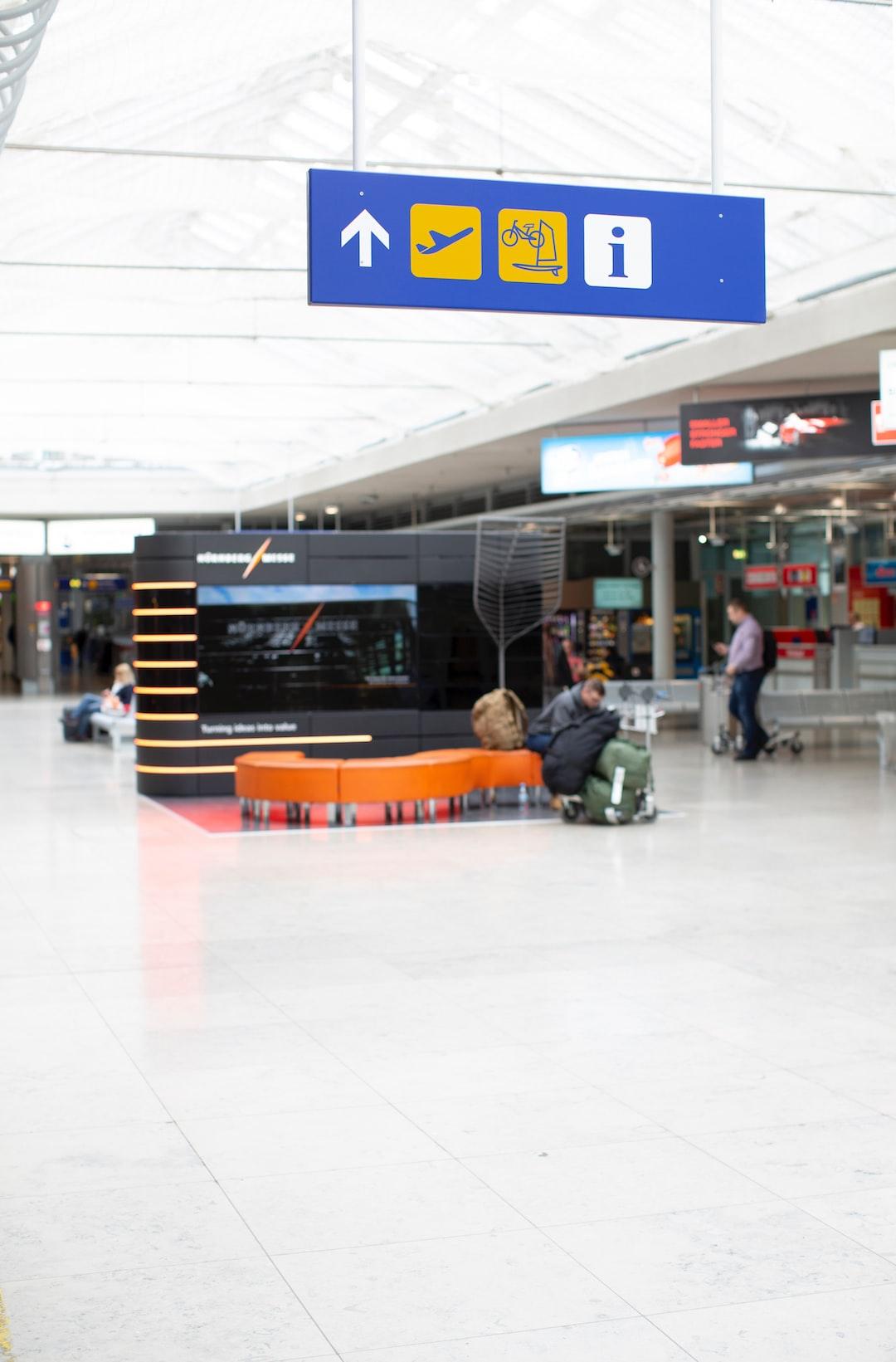 Departure lounge Nuremberg airport international aerodrome (NUE)