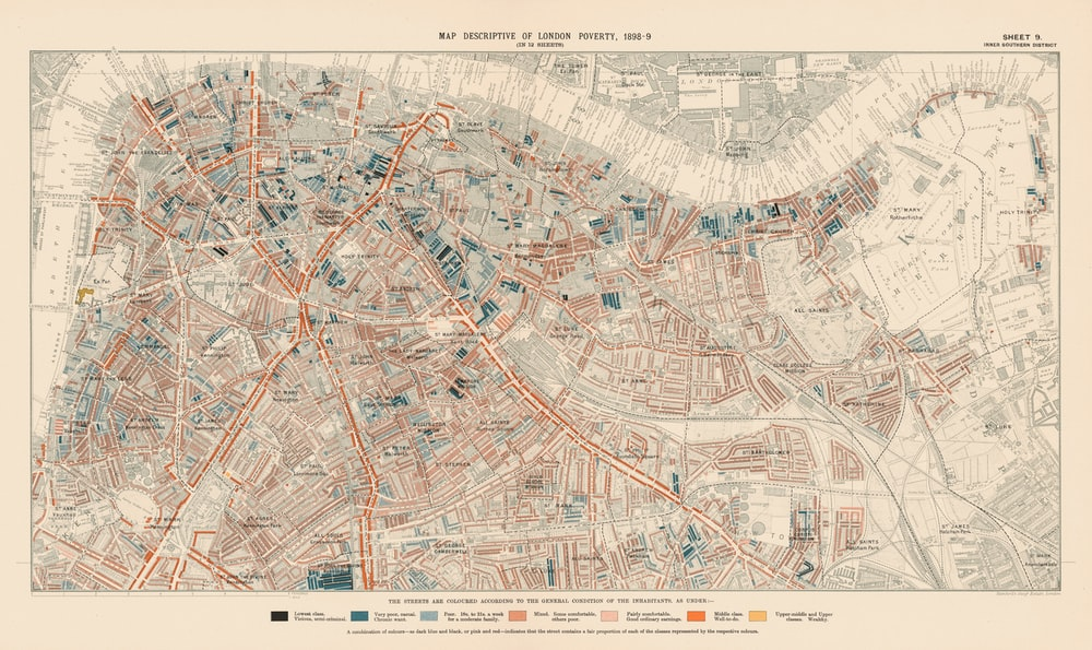 brown and white city map