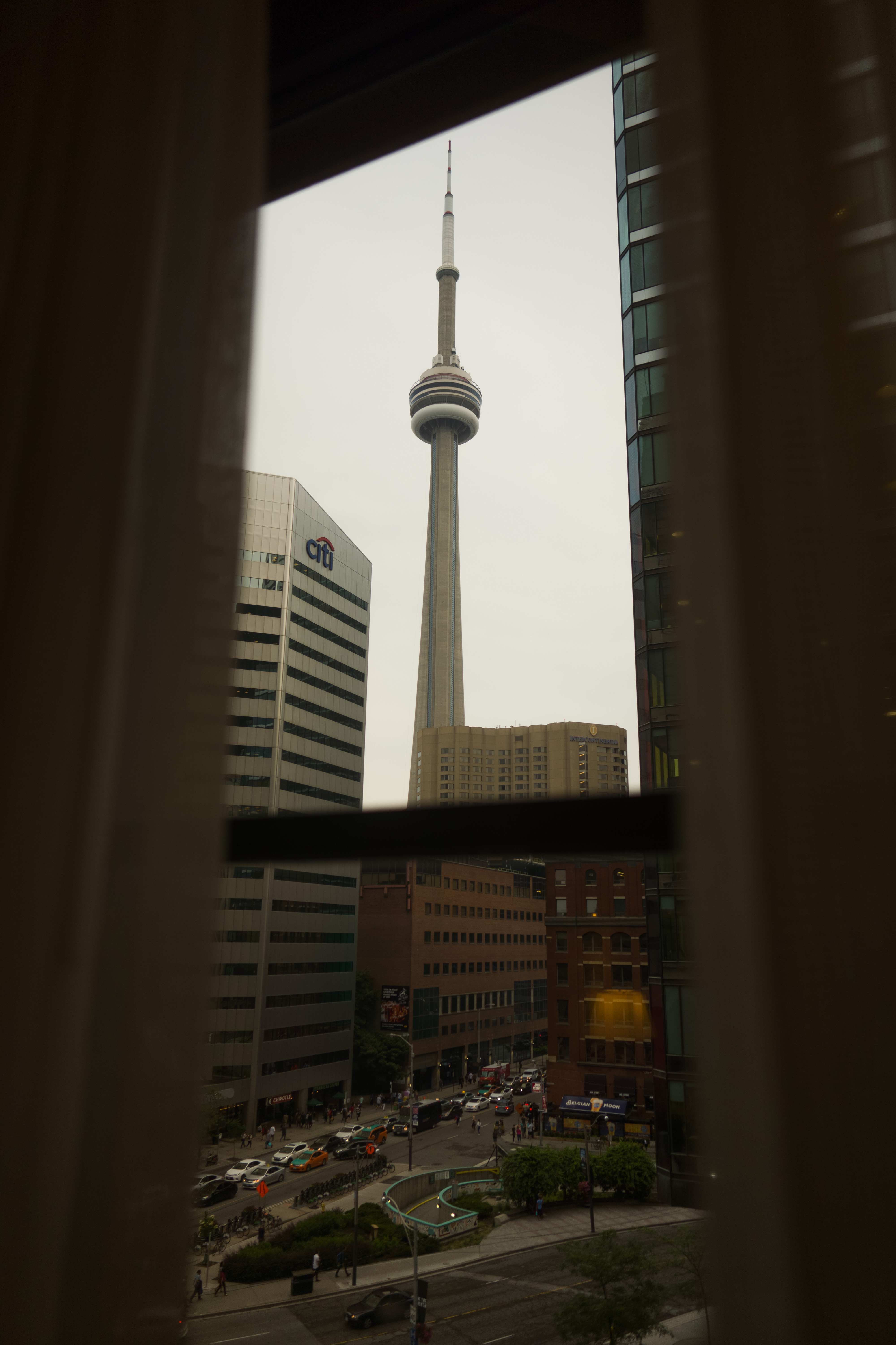 Midday in Toronto, view from the Fairmont Hotel