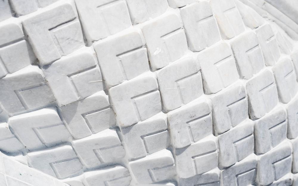 white and gray concrete blocks