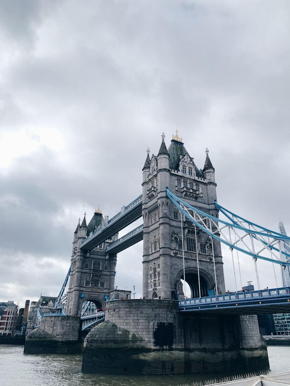 gray concrete bridge under cloudy sky during daytime