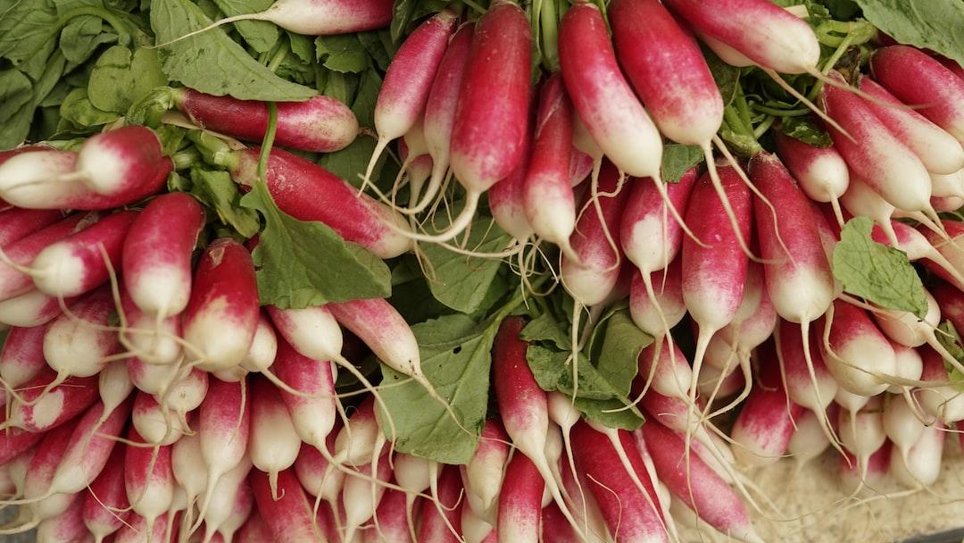 Radish on the market