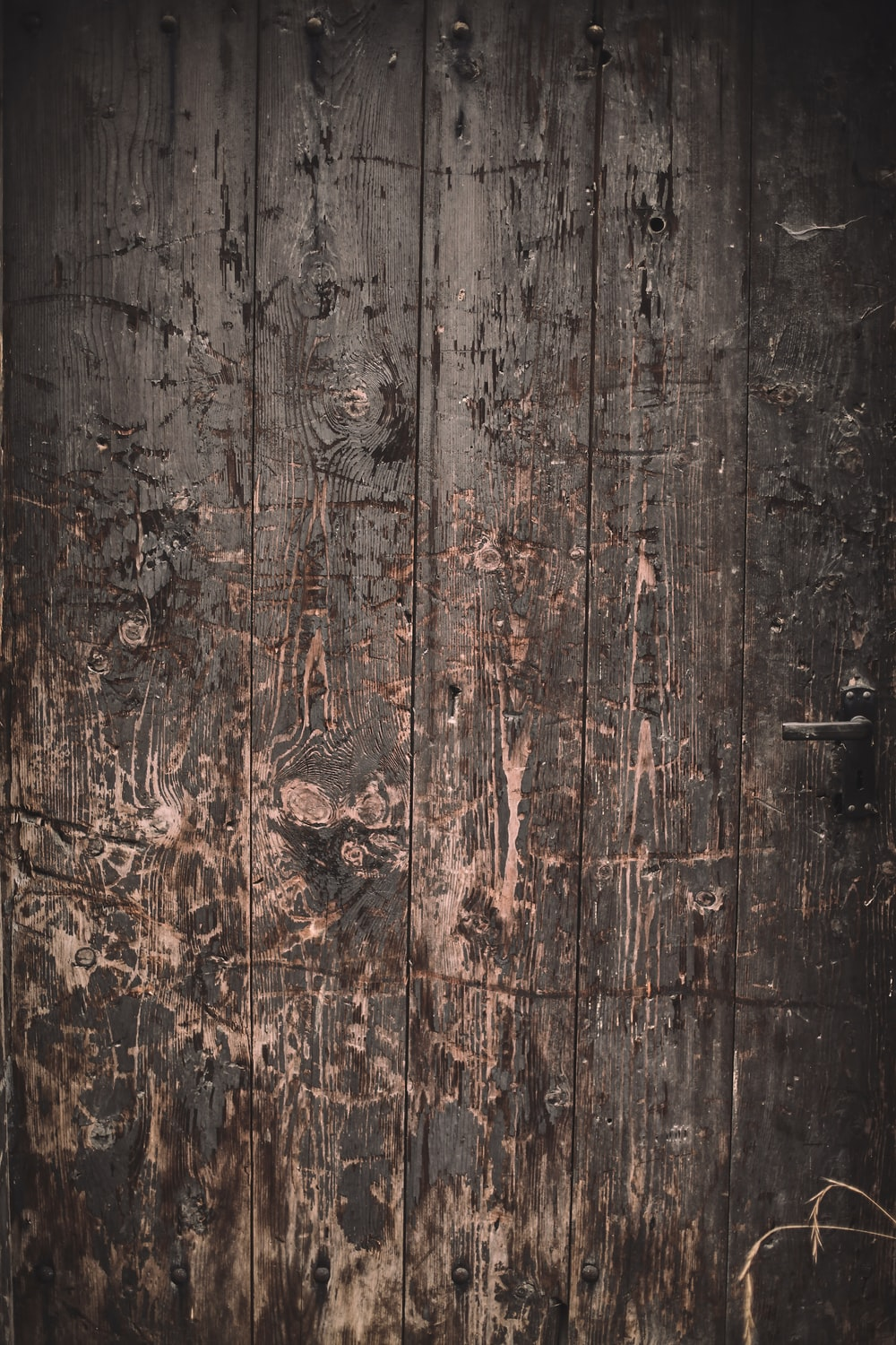 brown and black wooden surface