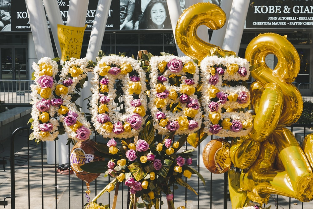 yellow and pink flower wreath