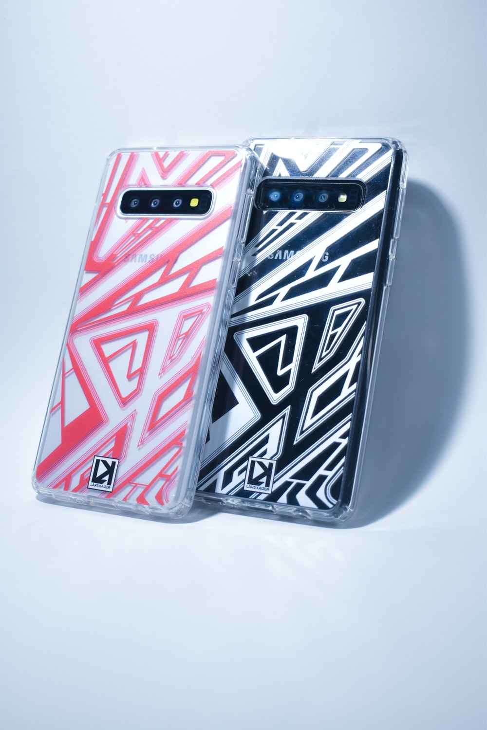 white black and red smartphone case