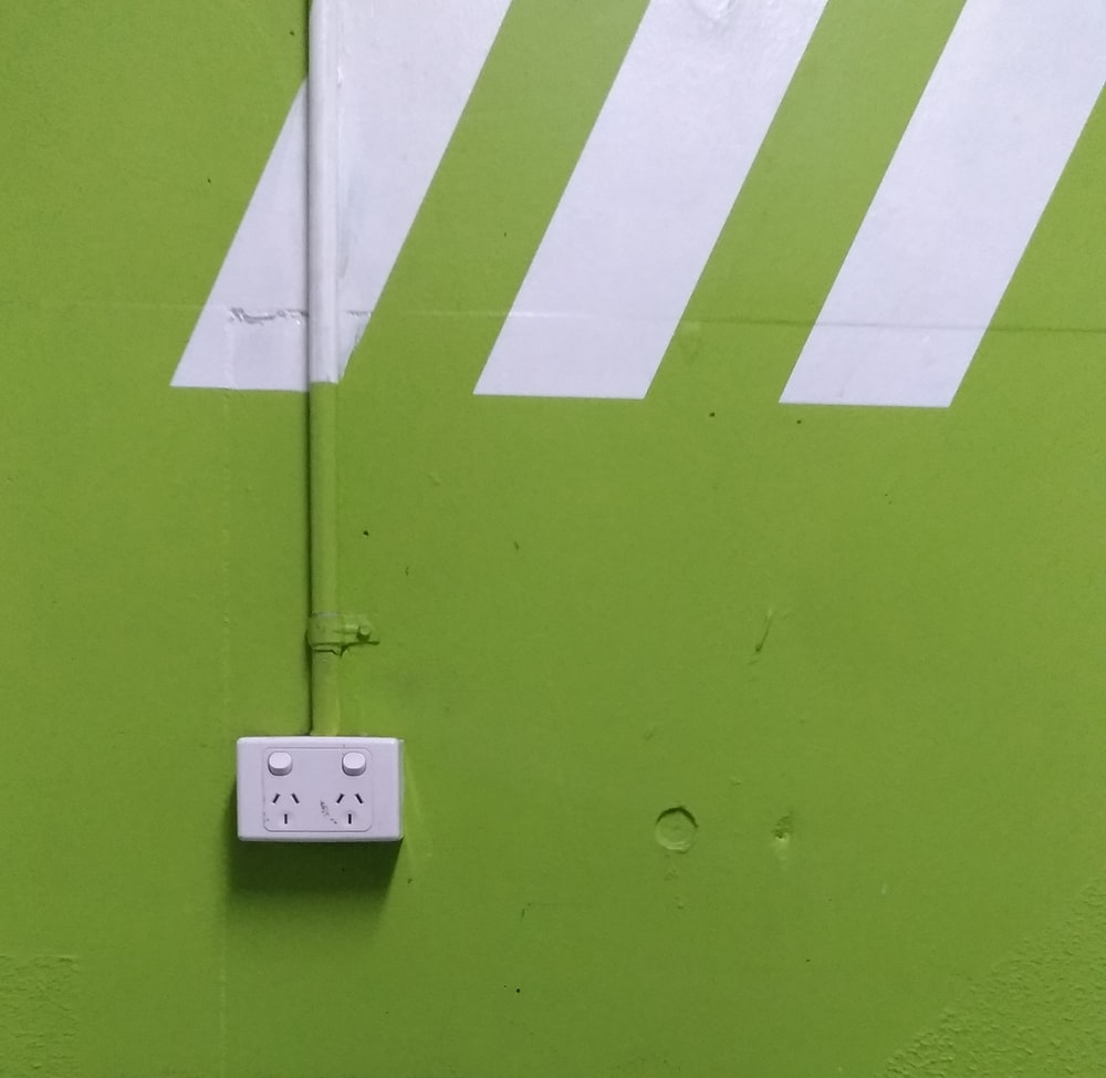 white and green wall paint