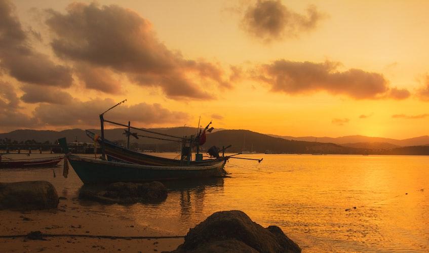 Sunset view in Koh Nang Yuan island