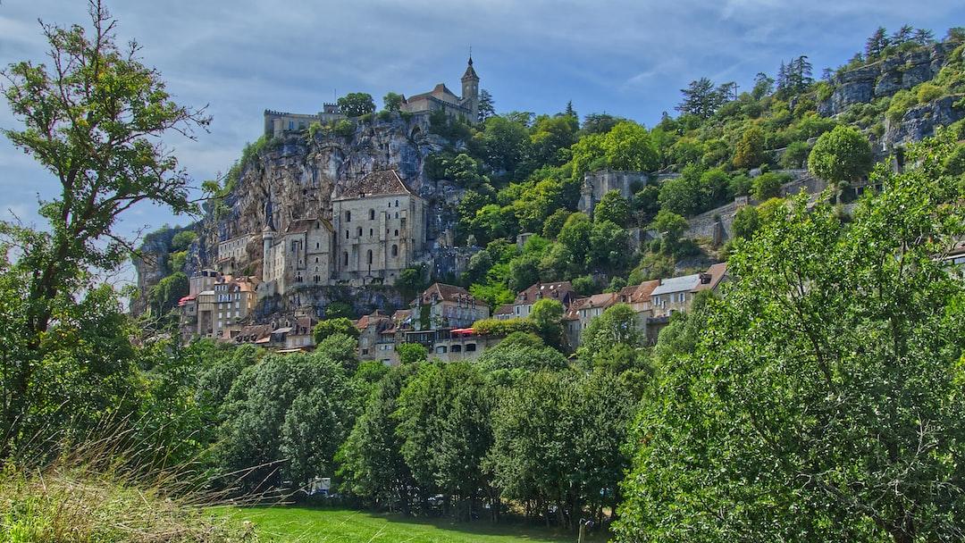 Vue sur la cité sacrée de Rocamadour.