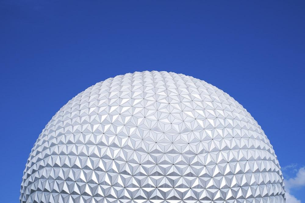 white round ball under blue sky during daytime