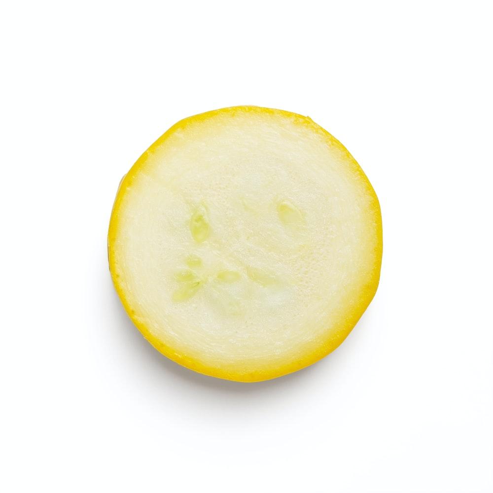 yellow lemon fruit on white background