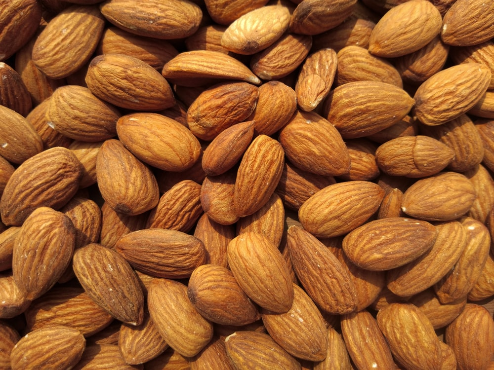 brown and yellow almond nuts
