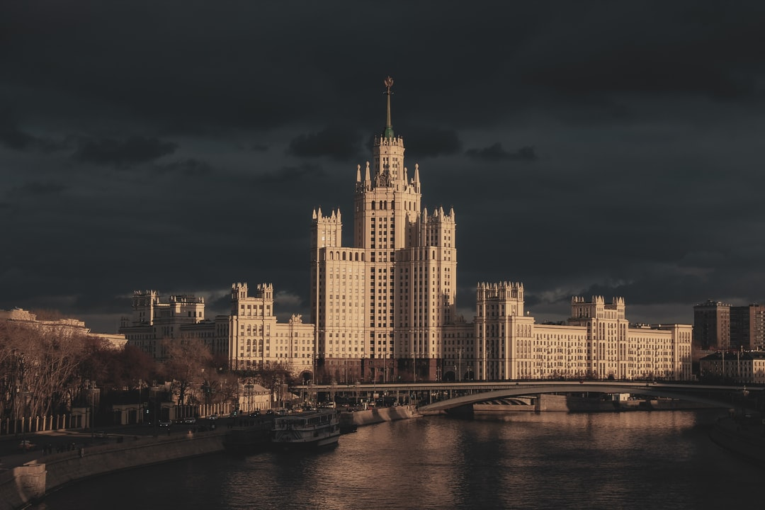 """One of """"The Seven Sisters"""" - Kotelnicheskaya Embankment Building. Another of Chechulin's works, 176 meters high, with 22 usable levels, the Kotelnicheskaya Embankment Building was strategically placed at the confluence of the Moskva River and Yauza River. The building incorporates an earlier 9-story apartment block facing Moskva River, by the same architects (completed in 1940). It was intended as an elite housing building. Built in a neo-gothic design, though also drew inspiration from Hotel Metropol."""