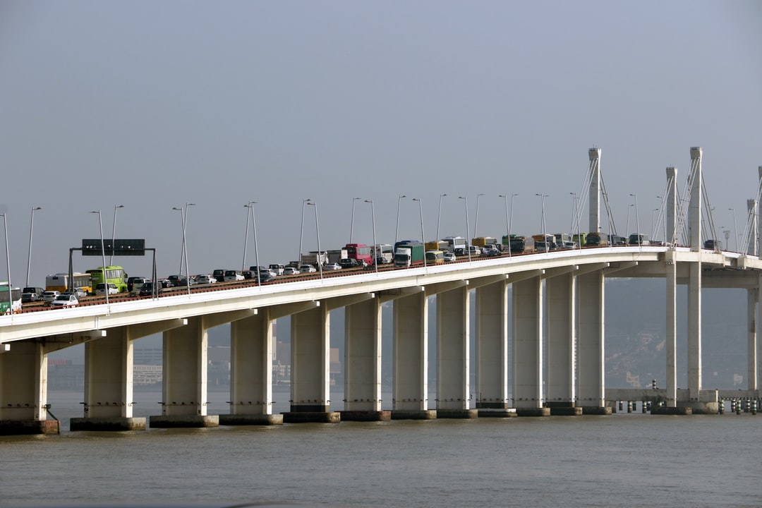 Traffic jam at Friendship Bridge in Macau