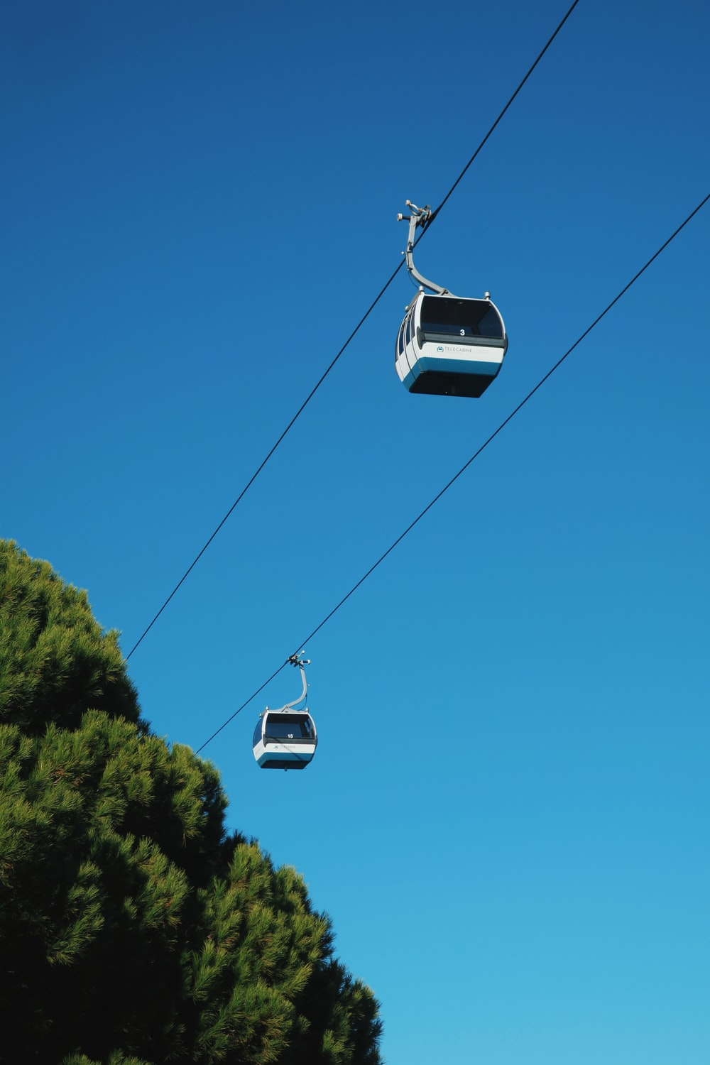 white cable car under blue sky during daytime