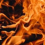 orange and yellow flame illustration