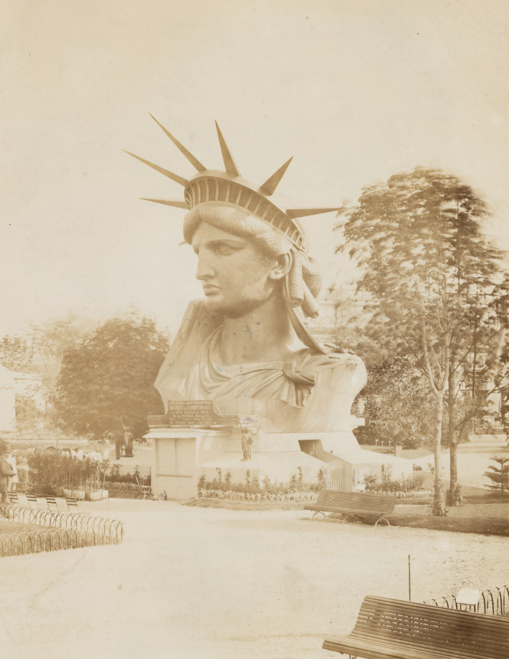 Historical image of the Statue of Liberty