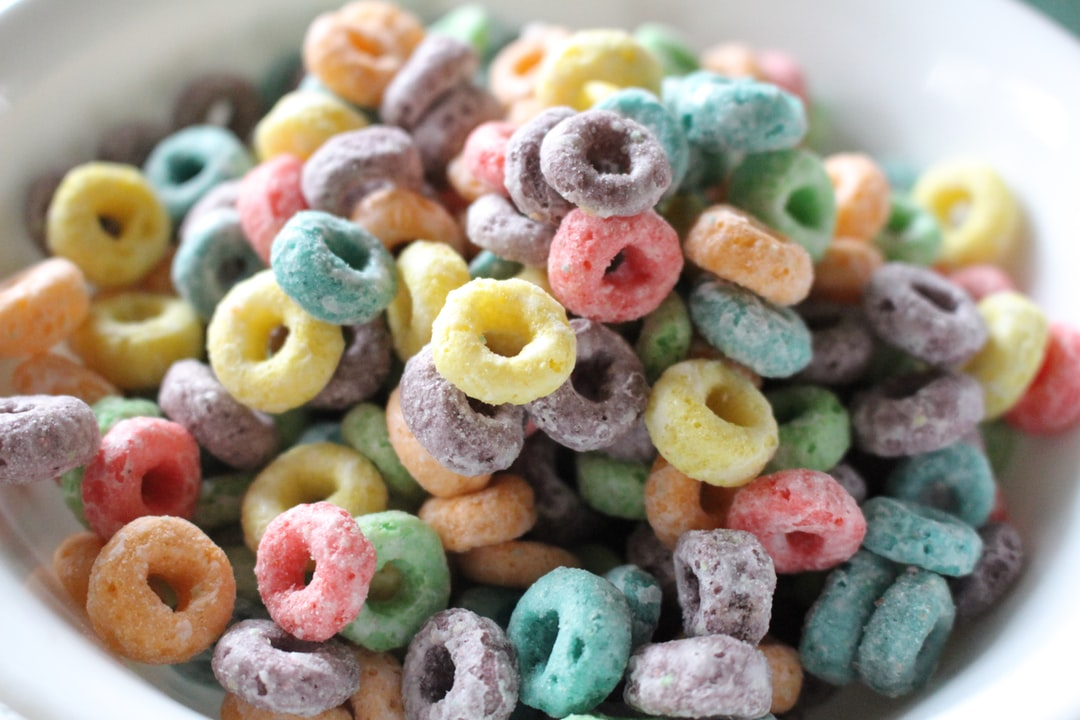 colorful bowl of cereal
