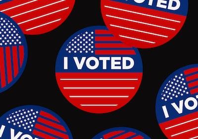 i voted #uselections2020 democrat zoom background