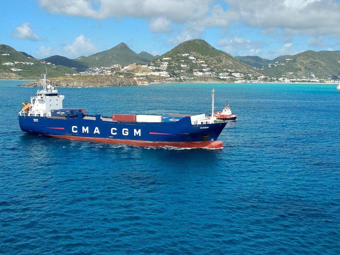 Container ship at Saint-Martin