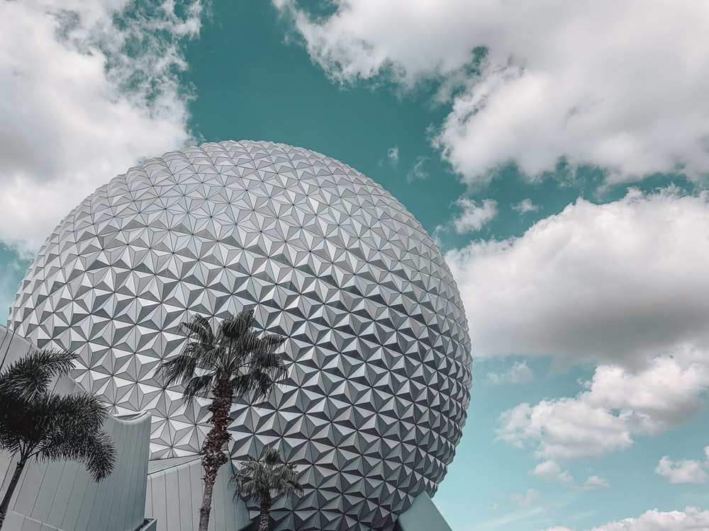 white and black round ball under blue sky