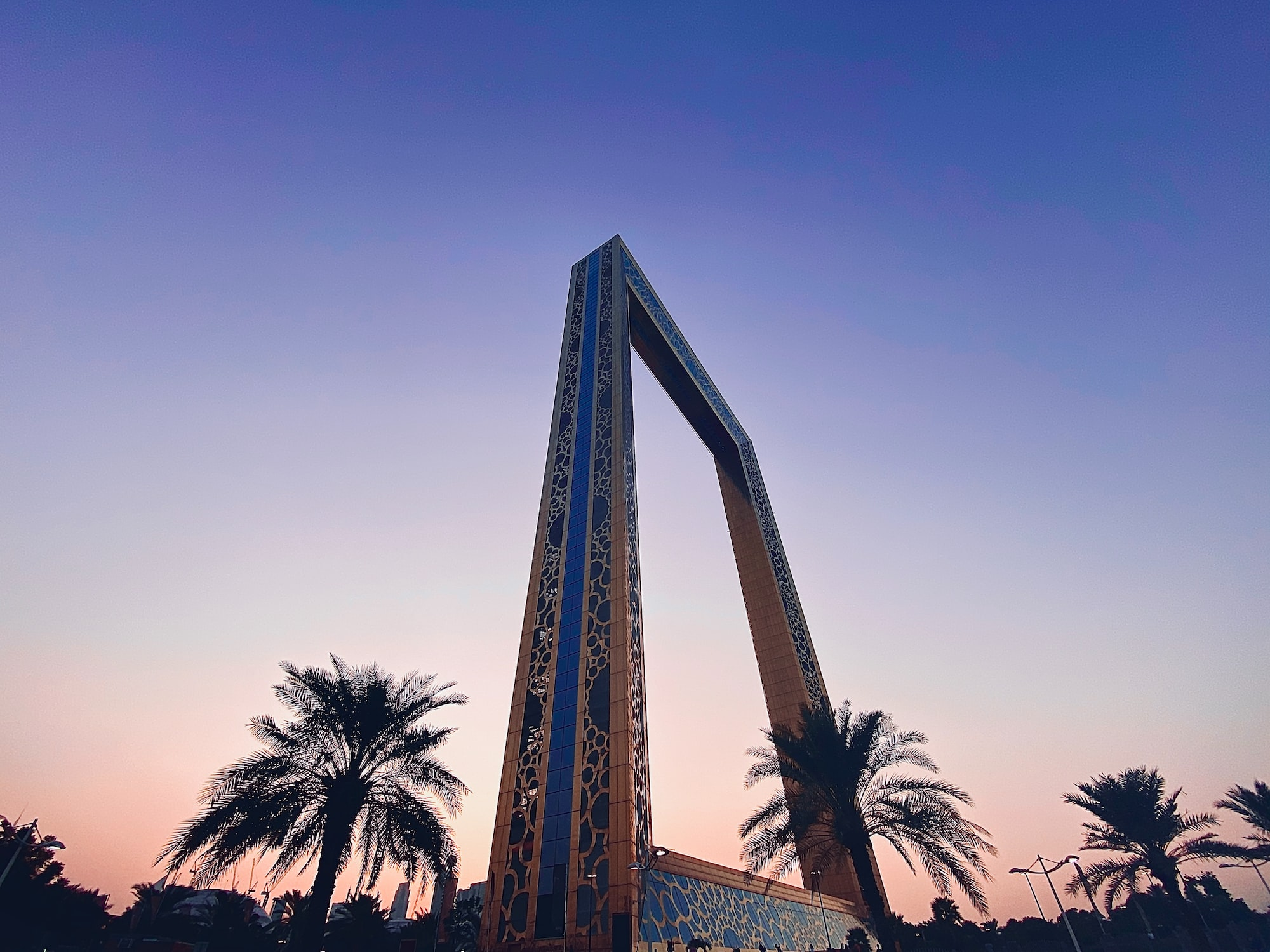 Dubai Frame by the sunset, shot on iPhone.