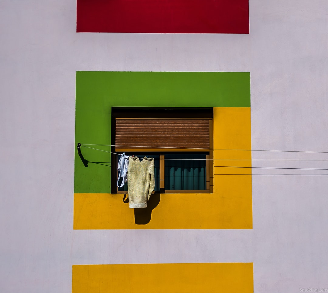 Clothes are drying on a balcony in Fier, Albania. Shot from a rescent travel destination.