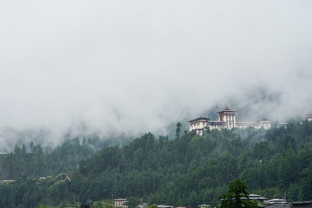 Beautiful mountain view in Bhutan