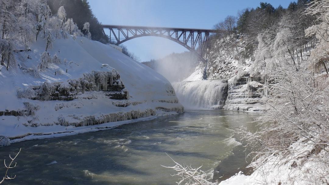Snow, Water, Bridge