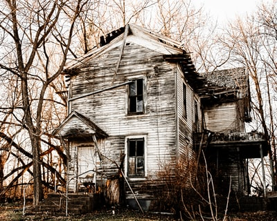 One super old, haunted, run down, or whatever-you'd-say house