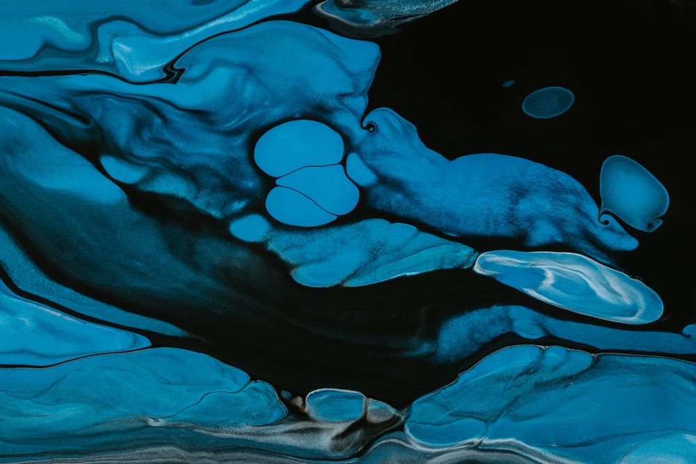 blue and black abstract painting