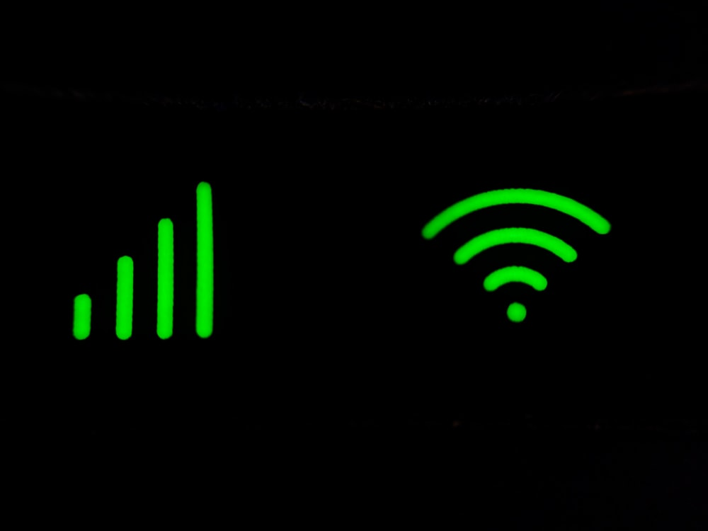 green and black digital device