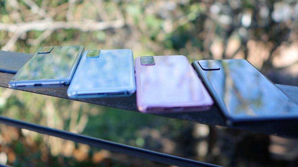 blue and black smartphone case