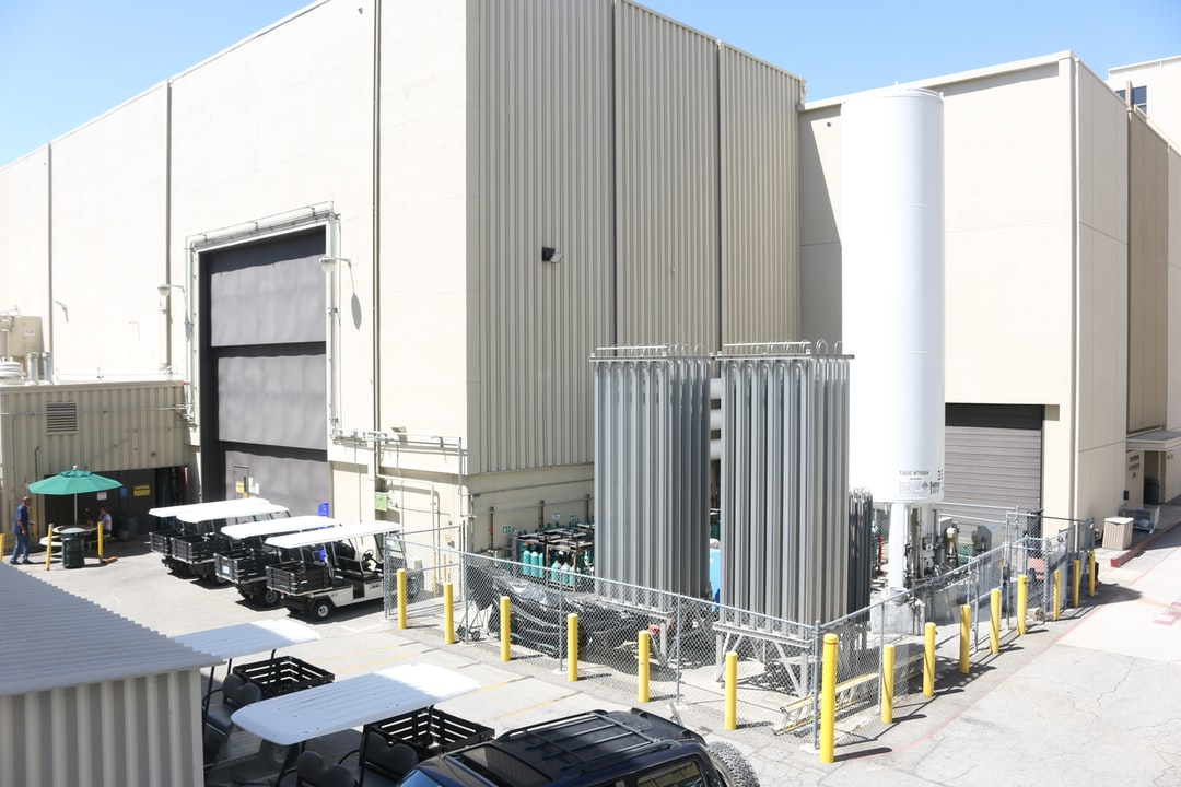 industrial buildings at Jet Propulsion Lab
