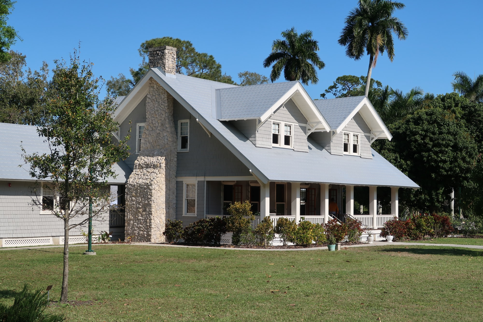 Summer house of Henri Ford, part of the Edison and Ford winter estate. Henri Ford and Thomas Edison were good friends and bought adjacent houses in Fort Myers Florida. These houses are now a museum.