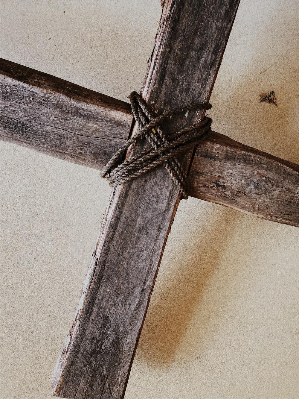 brown rope on brown wooden post