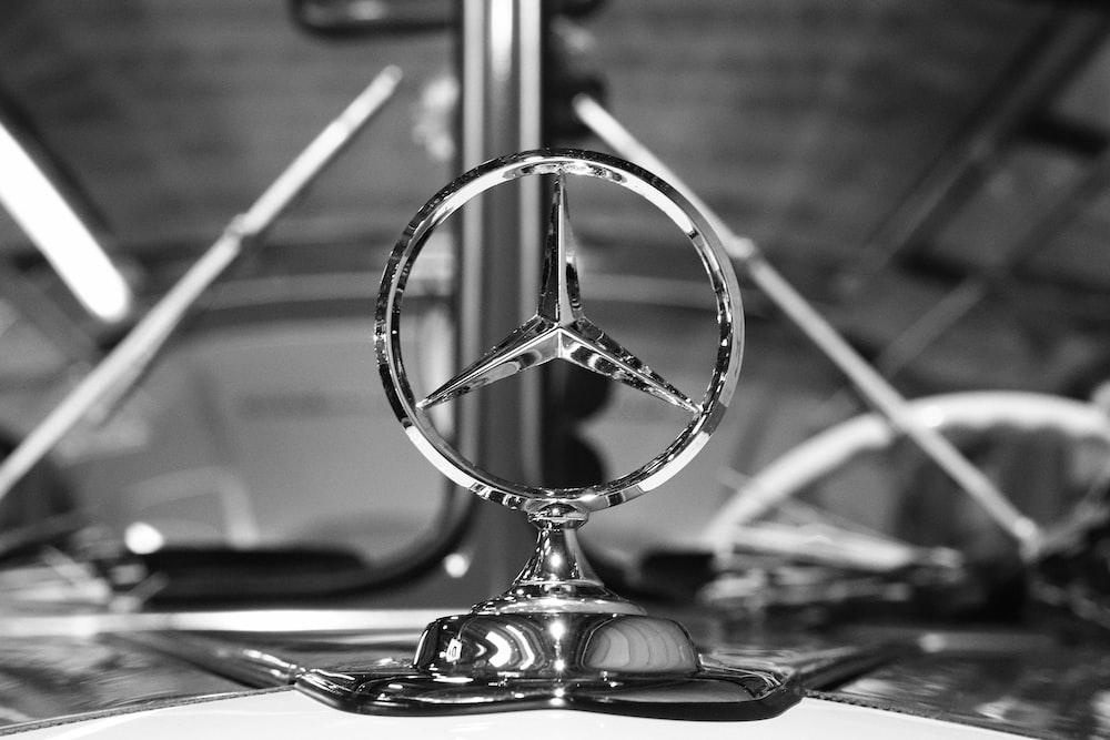 silver desk globe on table