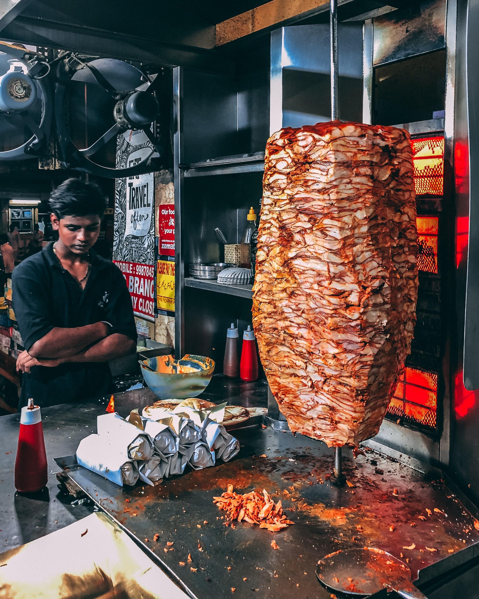 The famous Kings Shawarma Shop at Nagpada