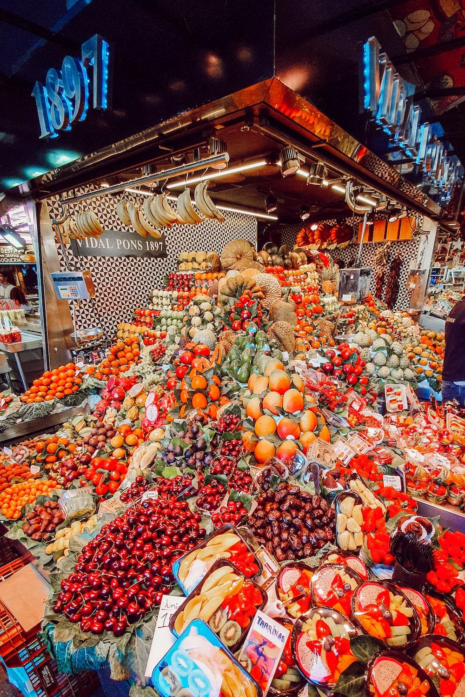 orange fruit display on market